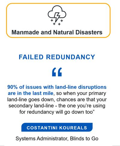 Man-made and natural disasters