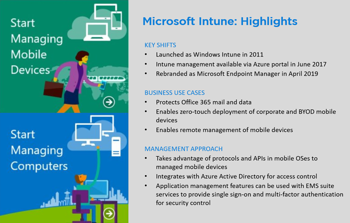Microsoft Endpoint Manager  Highlights + Image block