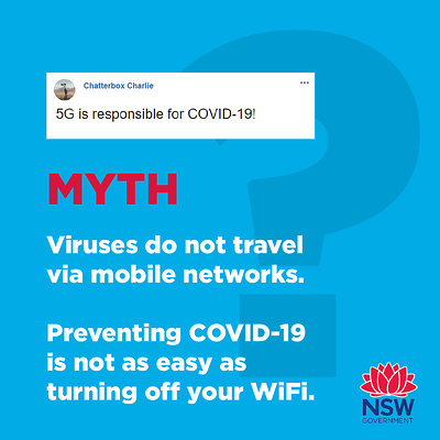 NSW Government 5G conspiracy message
