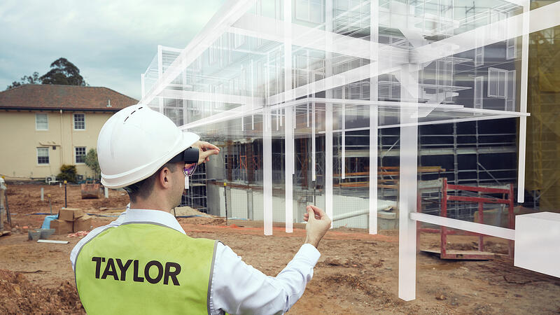 Taylor construction hologram 5G