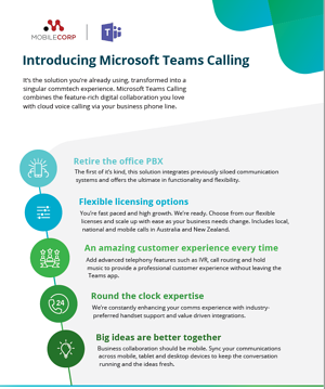 Teams Calling with Access4 brochure cover