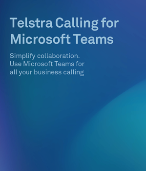 Telstra Calling for Microsoft Teams Brochure Cover