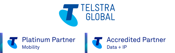 Telstra Global partner + blue