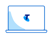 Telstra laptop transparent