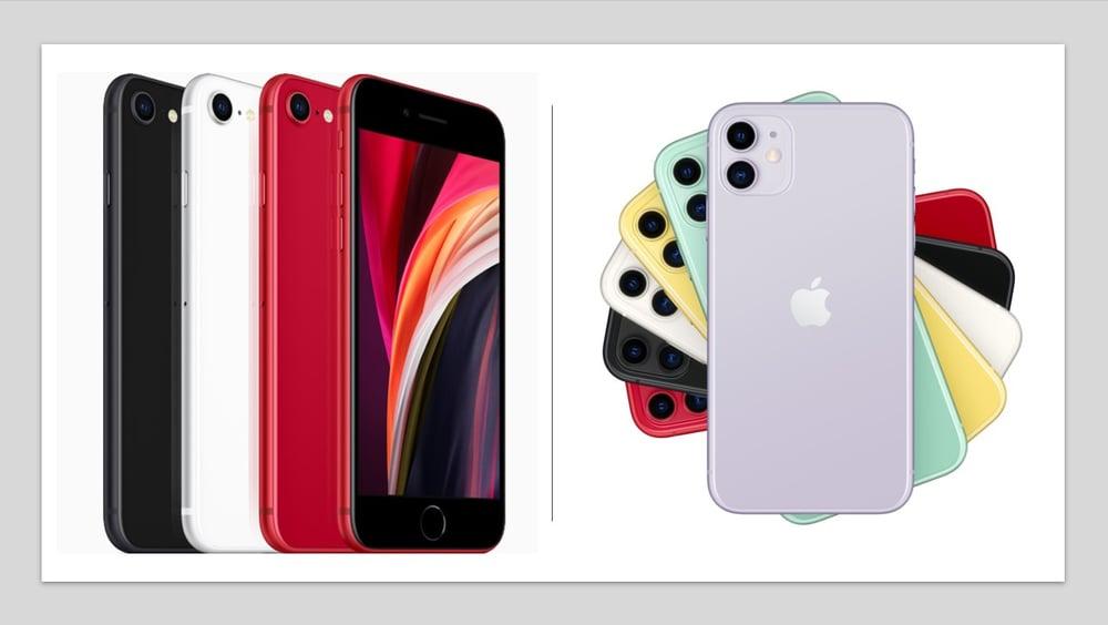 iphone 11 v iphone se