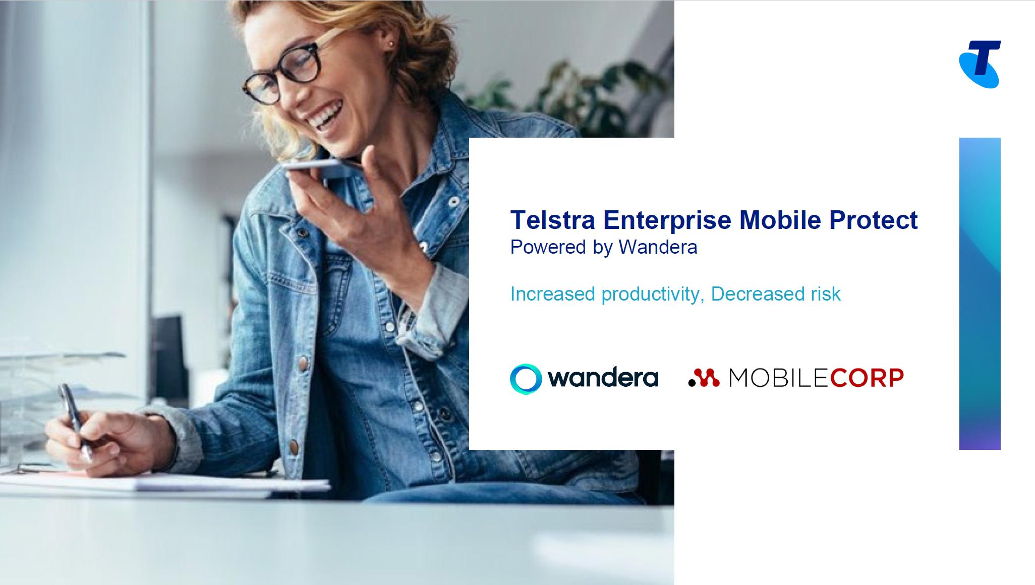 Telstra Enterprise Mobile Protect brochure branded cover
